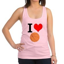 I Heart Basketball Racerback Tank Top
