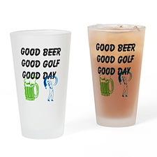 Good Golf Good Day Drinking Glass