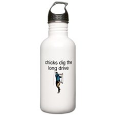 Chicks Dig The Long Drive Water Bottle