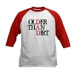 Dad - Older Than Dirt Kids Baseball Jersey