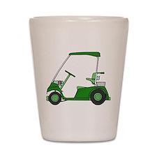 Green Golf Cart Shot Glass