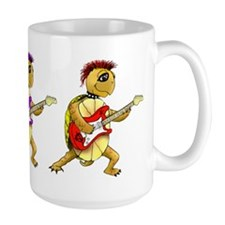Large Punk Rock Turtles Coffee Mug