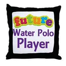 Future Water Polo Player Throw Pillow