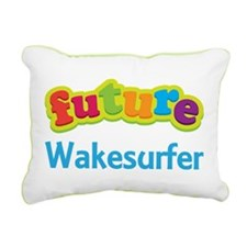 Future Wakesurfer Rectangular Canvas Pillow