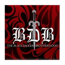 BDB Dagger Logo Red Tile Coaster