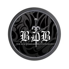 BDB Dagger Logo Black and Grey Wall Clock