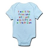 Trash Can Prom Baby Onesie