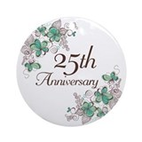 25th wedding anniversary Round Ornaments