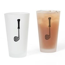 Cartoon Golf Club Drinking Glass