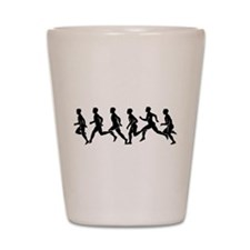 Runners Silhouette Shot Glass