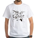 "White dirty t-shirt ""Mud Fight"""
