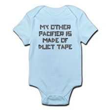 Duct Tape Pacifier Infant Bodysuit