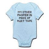 Duct Tape Pacifier Onesie