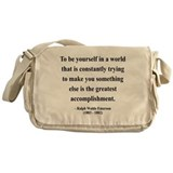 Cute Inspirational Messenger Bag