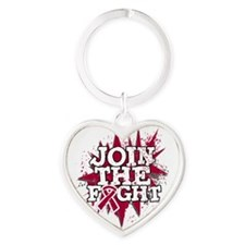 Join Fight Multiple Myeloma Heart Keychain