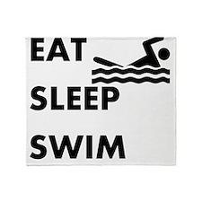 Eat Sleep Swim Throw Blanket