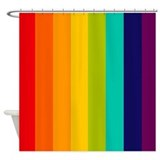 Rainbow Spectrum Shower Curtain