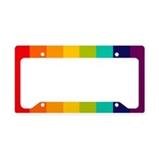 Rainbow Spectrum License Plate Holder