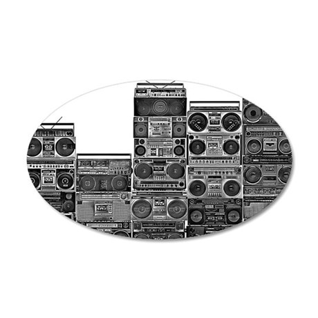 BOOMBOX COLLECTION 20x12 Oval Wall Decal