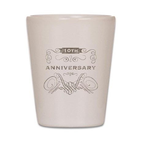 10th Vintage Anniversary Shot Glass