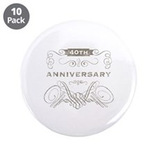 """40th Vintage Anniversary 3.5"""" Button (10 pack)"""