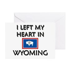 I Left My Heart In Wyoming Greeting Cards (Package