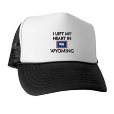 I Left My Heart In Wyoming Trucker Hat