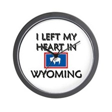 I Left My Heart In Wyoming Wall Clock