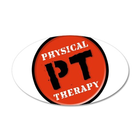 Physical Therapy Logo 35x21 Oval Wall Decal