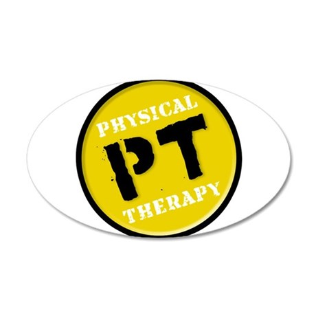PTLOGO T YELLOW.png 35x21 Oval Wall Decal