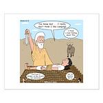 Abraham and Isaac Camping Small Poster