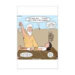 Abraham and Isaac Camping Mini Poster Print