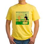 Adam's Lame Pick-up Line Yellow T-Shirt