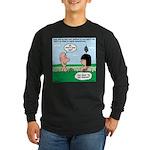 Adam's Lame Pick-up Line Long Sleeve Dark T-Shirt