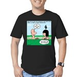 Adam's Lame Pick-up Line Men's Fitted T-Shirt (dar