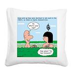 Adam's Lame Pick-up Line Square Canvas Pillow