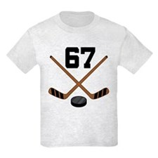 Hockey Player Number 67 T-Shirt