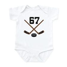 Hockey Player Number 67 Infant Bodysuit