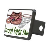 Trout Fear Me Rectangular Hitch Cover