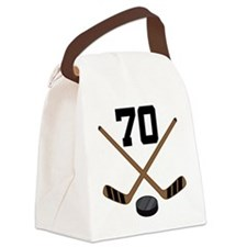Hockey Player Number 70 Canvas Lunch Bag