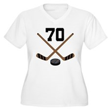 Hockey Player Number 70 T-Shirt