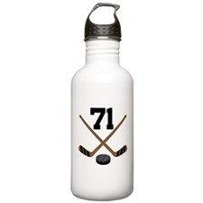 Hockey Player Number 71 Water Bottle