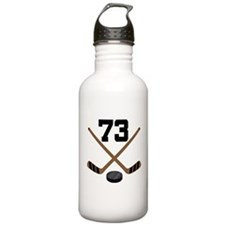 Hockey Player Number 73 Water Bottle