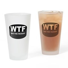 Win The Faceoff Drinking Glass