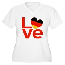 Red German LOVE T-Shirt