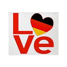Red German LOVE Throw Blanket