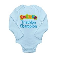 Future Triathlon Champion Long Sleeve Infant Bodys