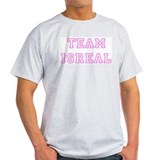 Pink team Isreal Ash Grey T-Shirt
