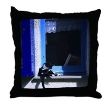 Lazy day in Cinque Terra Throw Pillow