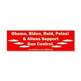 Dems and Aliens Car Magnet 10 x 3